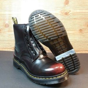 Dr. Martens 1460 Pascal Front Zip Cherry Red Boots